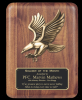 Walnut Eagle Plaque Eagle Awards