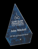 Blue Arrow Arista Glass Award Glass Awards