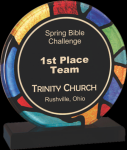 Round Stained Glass Acrylic with Black Base Artisan Acrylic Awards
