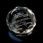 Crown Crystal Paperweight Boss Gift Awards