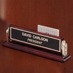 Name Bar with Gold Trim Business Card Holders