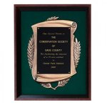 Rosewood Finished Shadowbox Frame Cast Relief Plaques