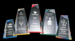 Faceted Wedge Acrylic Award Colored Acrylic Awards