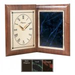 Gemstone Plate Book Style Clock Desk Clocks