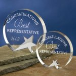 Freestanding Crystal Employee Awards