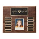 Hand Rubbed Walnut Perpetual Photo Plaque Employee Awards