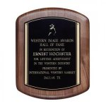 Hand Rubbed Walnut Plaque Employee Awards