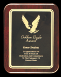Rounded Piano Finished Rosewood Plaque Employee Awards