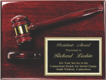 Deluxe Gavel Plaque Employee Awards