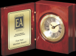 Rosewood Piano Finish Book Clock Employee Awards