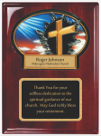 Rosewood piano finished plaque with resin plaque mount and plate Employee Awards