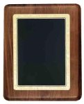 Walnut Plaque with Gloss Black Plate Employee Awards