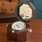 Rosewood Captain's Clocks - Octagon Executive Gift Awards