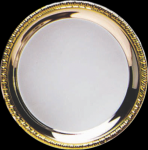 Silver Plated Tray with Gold Border Gift Awards