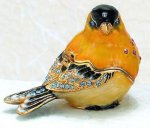 Gold Finch Bird Jewelry Box Gift Items