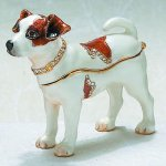 Jack Russel Terrier Dog Jewelry Box Gift Items