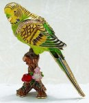 Parakeet Bird Jewelry Box Gift Items