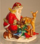 Santa Claus with Animals Christmas Jewelry Box Gift Items