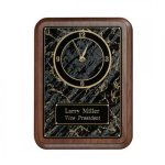 Marble Magic Wall Clock Plaque-Roman Gold Quartz Marble Awards