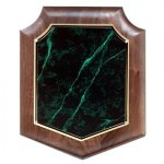 Hand Rubbed Walnut Shield Plaque Marble Awards