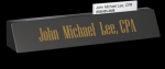 Black Marble Desk Name w/ Business card slot Marble Awards