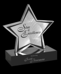 Brushed Silver Aluminum Star Marble Awards