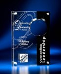 Circle Cutout Clear and Black Acrylic Award Modern Design Awards