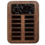 Black Onyx Perpetual Plaque Monthly Perpetual Plaques