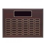 Mahogany Finished Perpetual Plaque Monthly Perpetual Plaques