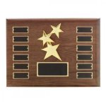 Constellation Casting on Perpetual Hand Rubbed Walnut Plaque Monthly Perpetual Plaques
