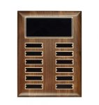 Hand Rubbed Walnut Perpetual Plaque Monthly Perpetual Plaques
