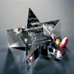 Crystal Star Paperweights