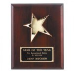 Mahogany Finish Rising Star Plaque Patriotic Awards