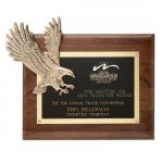 Antique Bronze Eagle Plaque Patriotic Awards