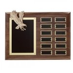 Antique Bronze Eagle Perpetual Plaque Patriotic Awards