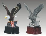 Eagle Sculpture with Flag Patriotic Awards