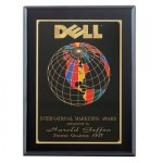 Ebony Piano Finished Screened World Plaque Recognition Plaques