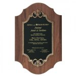 Solid American Walnut Plaque Recognition Plaques
