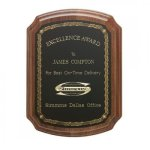American Walnut Notched Corner Plaque Religious Awards