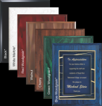 Blue Woodgrain plaque Sales Awards