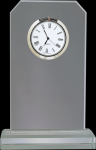 Clipped Corners Clear Glass Clock Sales Awards