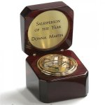 Rosewood Captain's Clocks Small Secretary Gift Awards