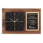 Large Walnut Wall Clock Secretary Gift Awards