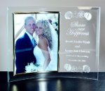Curved Beveled Glass with Gold Photo Frame Secretary Gift Awards