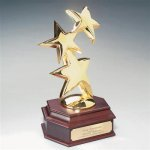 Constellation Award (Mahogany Wood Base) Star Cast Awards