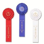 Classic Single Streamer Rosette Award Ribbon Track Trophy Awards