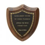 Laurel Wreath Shield Plaque Walnut Plaques