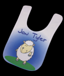 Infant Bib with Custom subligrpahic design Wearables