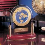 International Clock Wood Metal Accent Awards